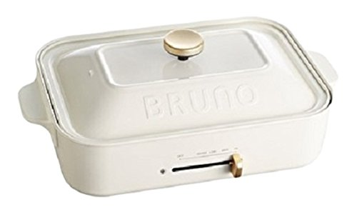 BRUNO compact hot plate BOE021-WH (White)(Japan Import-No Warranty)AC100