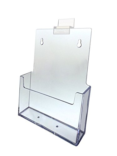 Marketing Holders Brochure Holder Slatwall Clear Acrylic Display for 5.75'' Literature Lot of 15 by Marketing Holders