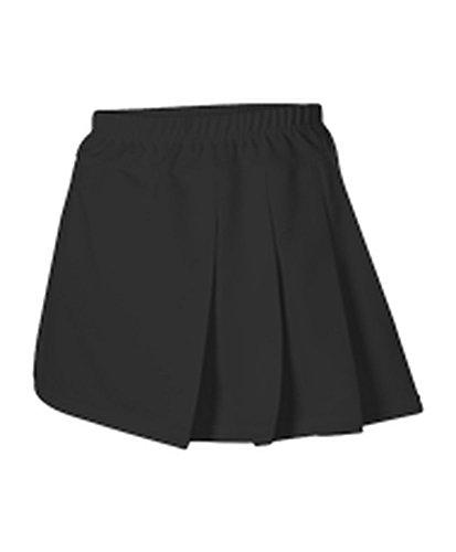 3 Pleat Cheer Skirt (Alleson GIRLS CHEERLEADING THREE PLEAT SKIRT BLACK S C200Y C200Y-BK-S)