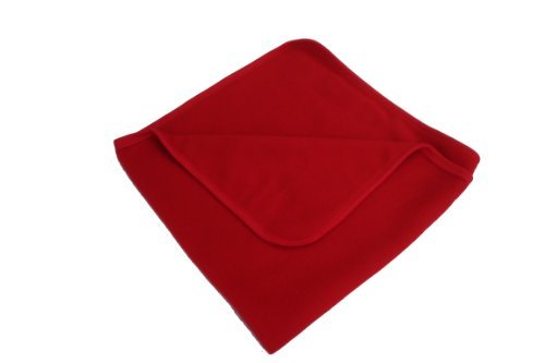 BabywearUK Red fleece baby blanket FleeceBlanket
