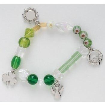 Bracelet Irish Beaded (Irish Blessing Stories of Faith Beaded Bracelet)