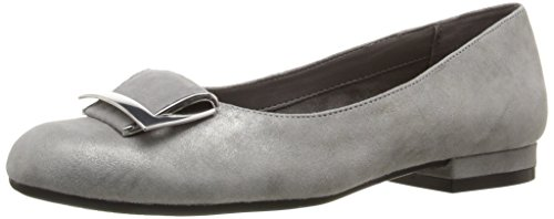 (Aerosoles Women's Good Times Slip-on Loafer, Silver Leather, 6.5 M US)