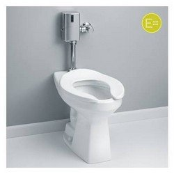 Toto CT705EL Commercial Flushometer Toilet HET, 1.28 GPF - ADA, with CeFiONtect, Bone