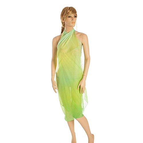 Paola Pen Pareo Niza Copricostume Ligero Moda Vestido Para Mujer Verde