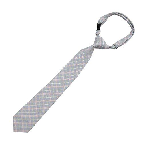 Shindek Pre-tied Boys Pattern Tie Adjustable Print Cotton Necktie (green plaid) by Shindek