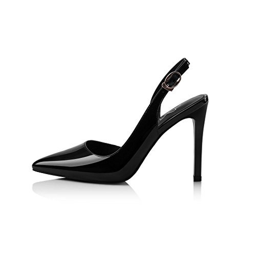 Shoes Baotou CJC Fashion Sexy Thin High Sandals Heeled Women's Heels Heels high Black RTPdHqHw