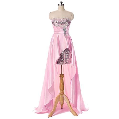 Da Coda Con color E Senza Stytle1 Size Cerimonia Abiti Maxi Joyiyuan Maniche M D'onore Donna Pink Di Pesce Damigella Vestito 5zfAwqg
