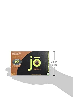 MORNING JO: Eco-Friendly Single Serve Cups for Keurig K-Cup Type Brewers, Medium Roast, No Additives, Certified Organic Breakfast Blend Coffee, Gourmet Coffee from the Jo Coffee Collection