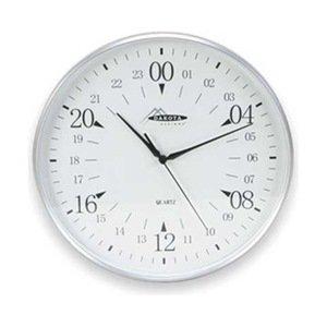 24 Hr Round The Clock (Dakota Designs 2CHZ9 Clock, Round, 24-Hr, 12 In, Silver)