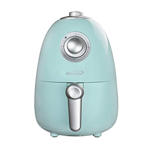Brentwood Appliances AF200BL 2-Quart Small Electric Air Fryer with Timer and Temperature Control (Blue), One Size,
