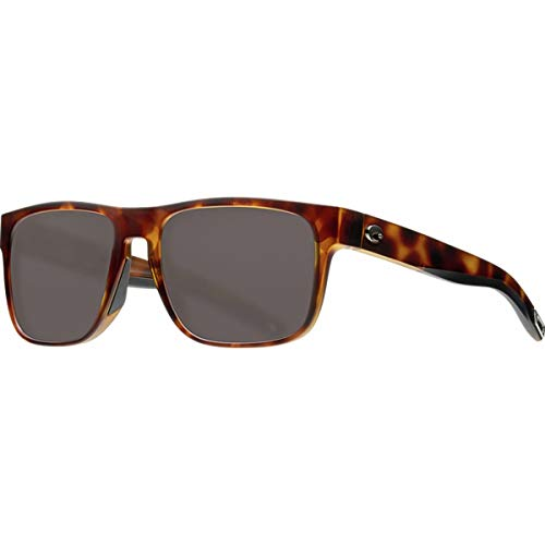 Costa Spearo 580P Polarized Sunglasses Matte Black/Shiny Tortoise Frame, One Size