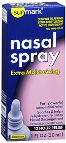 Sunmark Nasal Spray Extra Moisturizing - 1 oz, Pack of 4