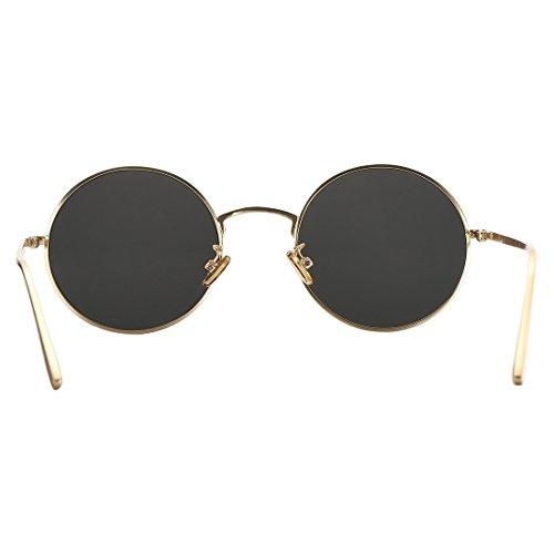 5b2a68cdc2a COASION Vintage Round Metal Sunglasses John Lennon Style Small Unisex Sun  Glasses