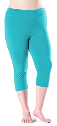 LMB Lush Moda Extra Soft Leggings - Variety Of Colors -Plus Size Yoga Waist - Teal (Womens Plus Color)