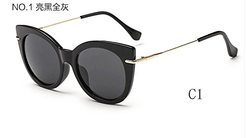 tonos Gafas de espejo C1 025 gato de C7 Gafas mujeres sol Sunglasses de gafas TL 025 de sol caramelo de UV400 ojo de 4w5AZa