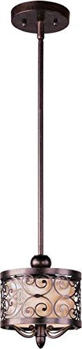 Mini Pendants 1 Light Bulb Fixture with Umber Bronze Finish Iron Material Medium Bulbs 8 inch 75 Watts