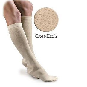Activa H2801 Sheer Therapy Womens Cross-Hatch Pattern Trouser Socks 15-20 mmHg - Size & Color- Tan Small