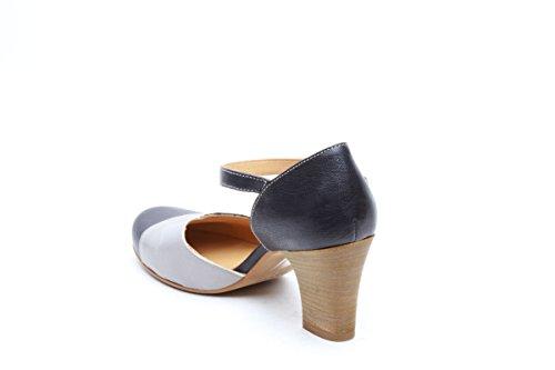 Scarpe italiane scarpe donna con tacco blu
