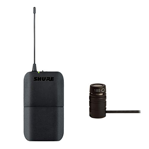 Shure BLX1 Wireless Bodypack Transmitter Bundle with WL185 Cardioid Lavalier Condenser Microphone, H9