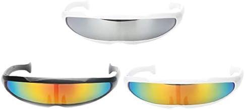 IPOTCH 3X Gafas de Sol de Visera Cosmético Alejada Futurista Robot ...