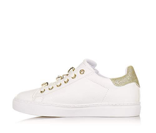 Sneakers Bianco Bassa Su Accessori Liu Lacci Latte Platino Jo Con 5Fx0q5CWwS