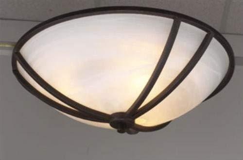 PLC Lighting 14864 ORB 3-Light Ceiling Light Highland Collection