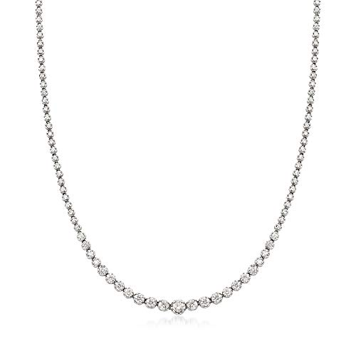 Ross-Simons 5.00 ct. t.w. Graduated Diamond Tennis Necklace in 14kt White Gold