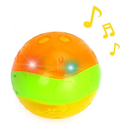 Musical Light Up Interactive Baby Clutch Rattle Sparkle Ball For Toddlers