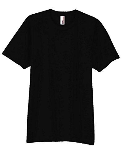 Anvil 980 Ringspun Cotton Fashion-Fit T-Shirt Black Large