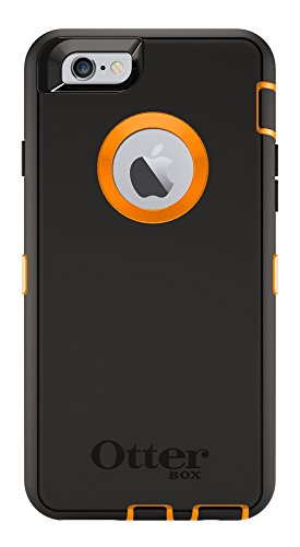 "Latest OtterBox DEFENDER Case for Apple iPhone 6s and iPhone 6 Case (4.7"") - Retail Packaging - BLAZE ORANGE/BLACK orange iphone case 3"