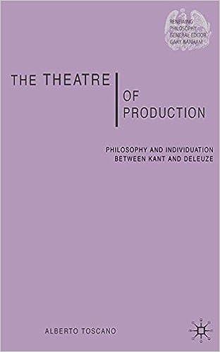Livres gratuits à télécharger sur le coinThe Theatre of Production: Philosophy and Individuation between Kant and Deleuze (Renewing Philosophy) 1403997802 PDF CHM