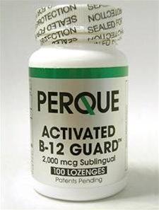 Perque Активированный B-12 гвардии ™ (2000 мкг, 100 таблетки)
