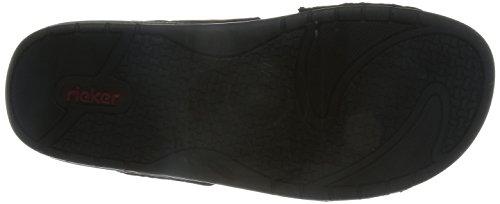 Rieker 25559 Herren Pantoletten Braun marrone schwarz   25 - maarte.de d2e498949f
