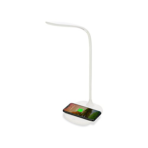 LED Desk Lamp, Transy Table Lamp 3 Brightness Level Portable Reading Lamps Flexible Neck Touch Sensitive Bedside Lamp Rechargable Eye-Care Light for Office, Home, Reading, Study, Work, Bedroom -White (3 Light Study)