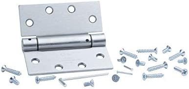 x 4.5 in Brushed Chrome Heavy Weight Ball Bearing Hinge Global Door Controls 4.5 in