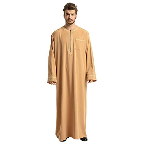 Ktare Men Muslim Thobe,Mens Ethnic Robes Long Sleeve for sale  Delivered anywhere in USA