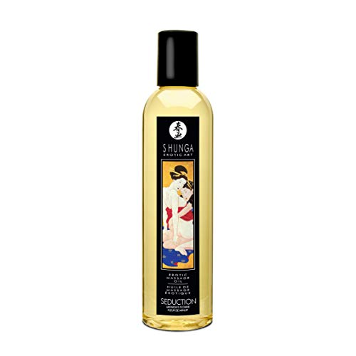 Shunga Erotic Massage Oil 8.4 Fluid Ounces (Asian Midnight Flower Seduction)