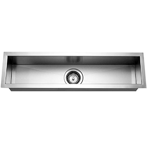- Houzer CTB-3285 Contempo Trough Series Undermount Stainless Steel Bar/Prep Sink by HOUZER