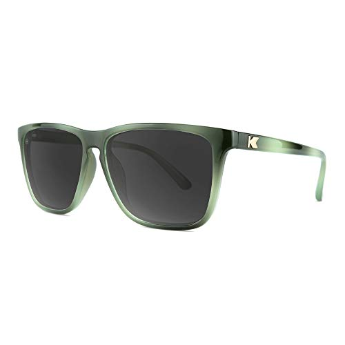 Knockaround Fast Lanes Polarized Sunglasses With Dark & Light Green Frames/Black Lenses ()