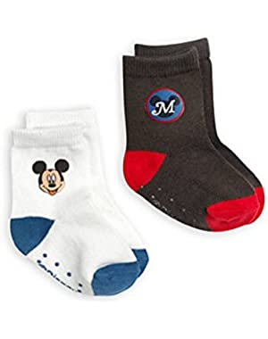 Disney Store Mickey Mouse Sock Set for Baby 2-Pack