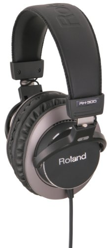 Roland RH-300 Stereo Headphone, 10-25000Hz Frequency Response, 101dB Sensitivity