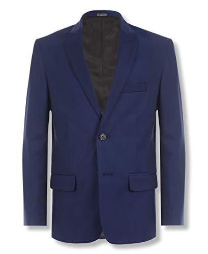 Calvin Klein Big Boys' Solid Blazer Jacket, Infinite Blue, 10 ()