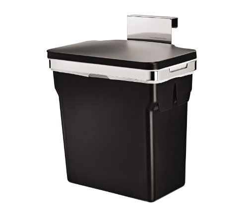 simplehuman 10 Liter / 2.6 Gallon In-Cabinet Kitchen Trash Can, Heavy-Duty Steel Frame by simplehuman