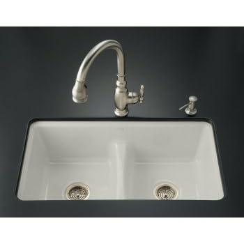 Kohler K 5838 7U 95 Deerfield Smart Divide Undercounter Kitchen Sink With  Double