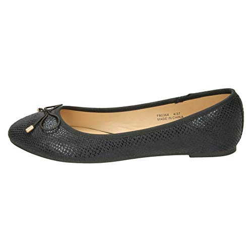 Trim Black On Ladies Bow Spot Ballerinas qatxYzwPxZ