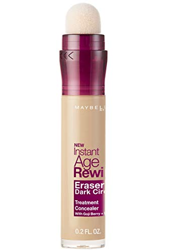 Makeup Pale Skin - Maybelline Instant Age Rewind Eraser Dark Circles Treatment Concealer Makeup, Light, 0.2 fl. oz.