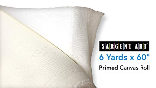 Sargent Art 90-1000 Roll of 60-Inch-Wide Cotton Canvas, 6 Yards