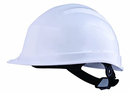 Delta plus - Casco obra abs/pc aislamiento electrico/a boton blanco: Amazon.es: Amazon.es