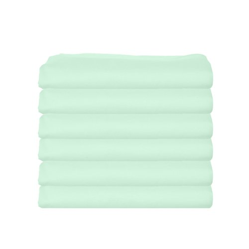 bkb Daycare 6 Piece Flat Crib and Toddler Sheets, Mint
