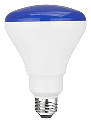 TCP RLBR3010WBL LED BR30 - 65 Watt Equivalent (only 10w used) BLUE Colored Flood Light Bulb